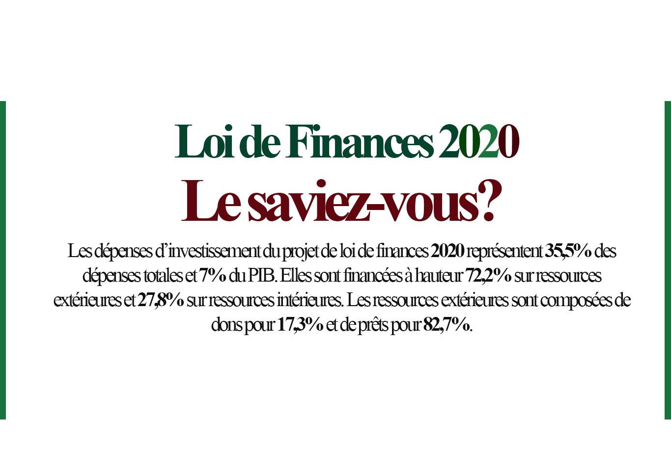 Loi de finances pour l'année 2020
