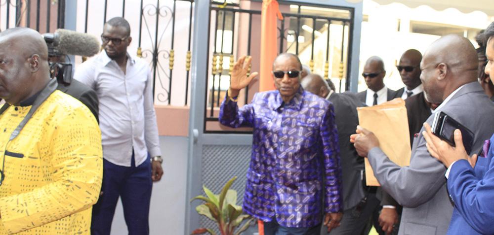 Le Ministre du Budget à l'inauguration du siège de l'ANIES
