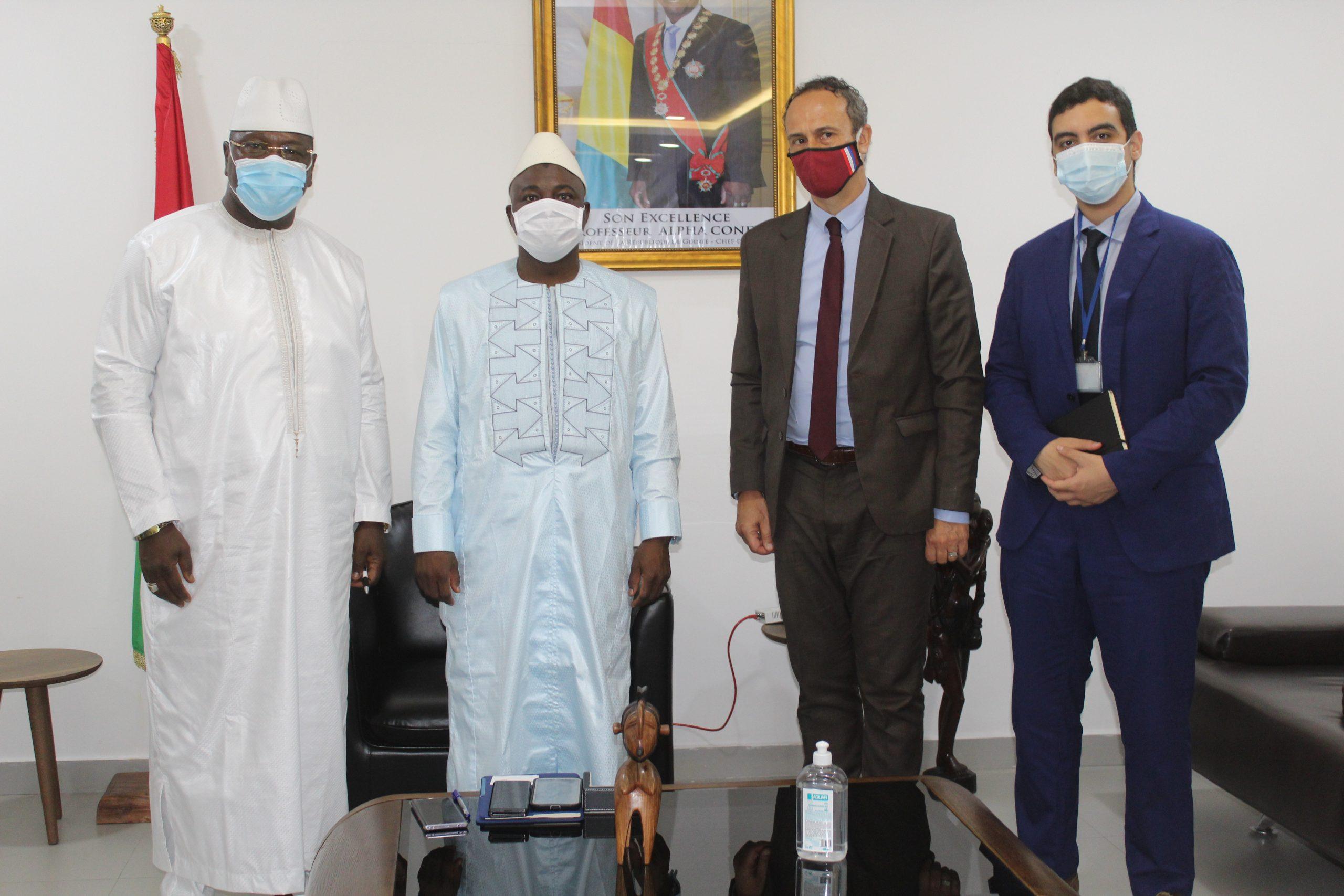 Visite de courtoisie du nouvel Ambassadeur de la France en Guinée.