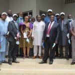 Visite de travail ce lundi du Ministre du Budget à la Direction Nationale des impôts.